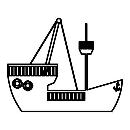 figure ship maritime transpotation, vector illustration design