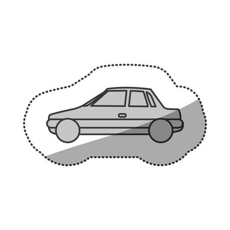 sunroof: contour side car transport, vector illustration design