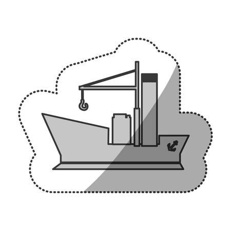 contour ship maritime transpotation, vector illustration design Illustration