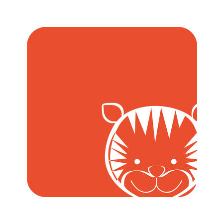 orange square picture of tiger animal