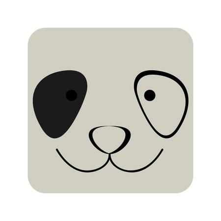 expresión de la cara de perro cuadrado, ilustración vectorial