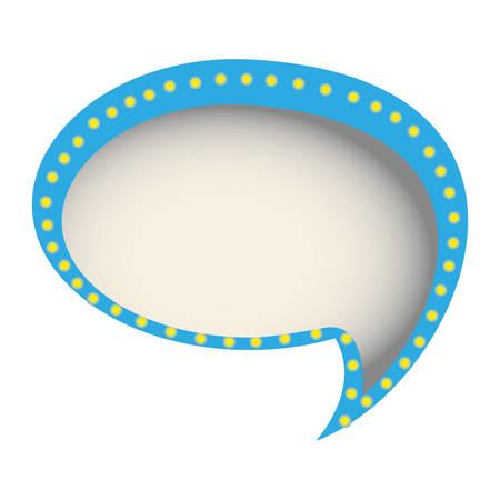 chat bubble of communication dialogue, vector illustration design