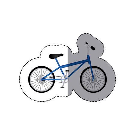 rack mount: Sticker silhouette of small sport bike in white background vector illustration Illustration