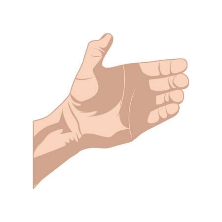 シルエットの肌の色をスケッチ右手何か固定ベクトル イラスト