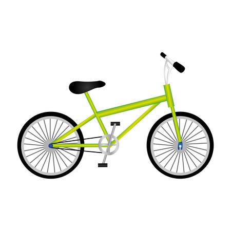 rack mount: silhouette of sport green bike in white background vector illustration