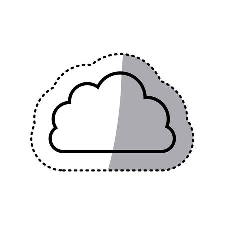 stormy clouds: line gray cloud weather icon, vector illustration