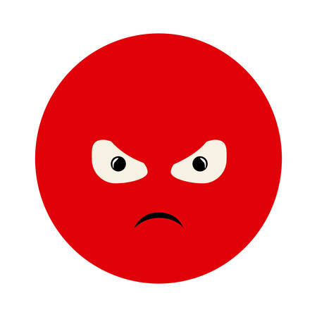 colorful emoticon furious face expression vector illustration Stock Vector - 75420311