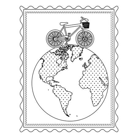 Black silhouette map isolated over white background vector royalty 75575689 silhouette frame with bicycle over the world map vector illustration gumiabroncs Choice Image