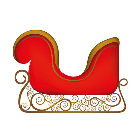 claus: colorful silhouette of sleigh of santa claus vector illustration