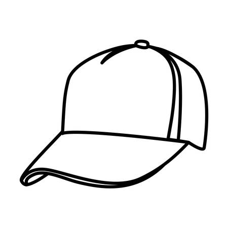 monochrome contour of baseball cap vector illustration royalty free rh 123rf com baseball cap vector icon baseball cap vector download