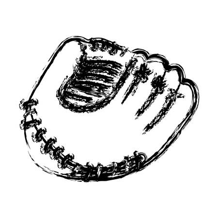 monochrome sketch of baseball glove vector illustration