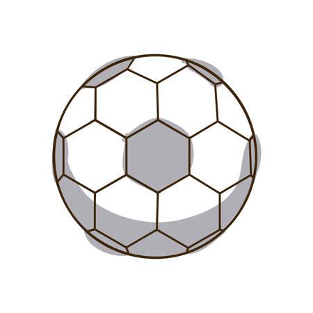monochrome silhouette soccer ball element sport vector illustration