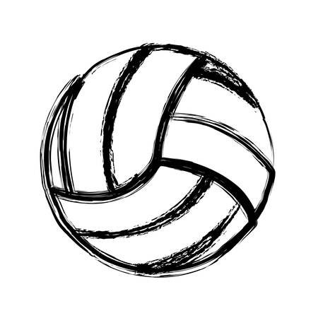 monochrome sketch of volleyball ball vector illustration