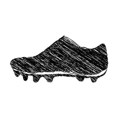 silhouette drawing sneakers sport shoes vector illustration