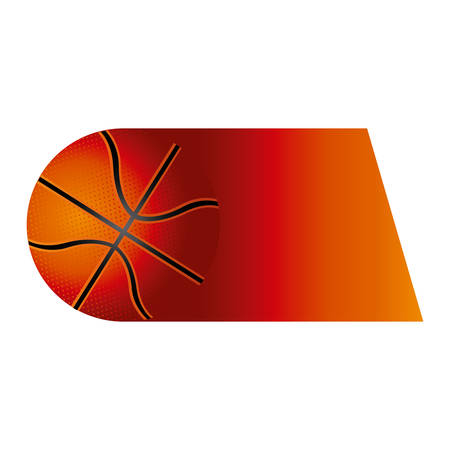 colorful background of fast moving basketball ball vector illustration
