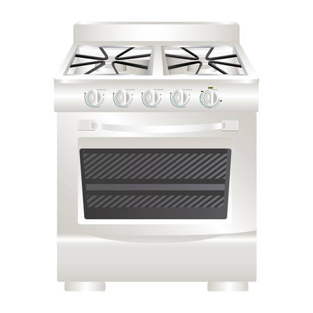 colorful realistic silhouette of stove with oven vector illustration