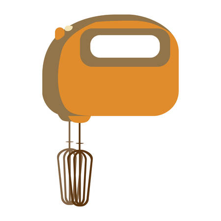 aged silhouette with kitchen mixer vector illustration