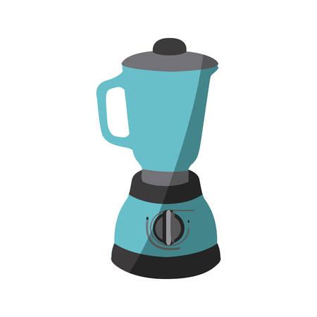 blue color silhouette of kitchen blender vector illustration Illustration