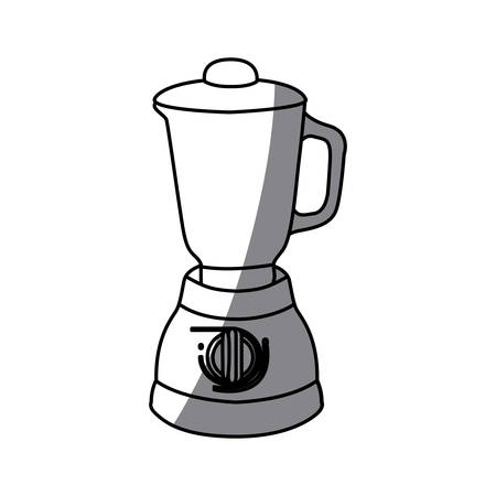 cocktail mixer: monochrome silhouette of kitchen blender vector illustration Illustration