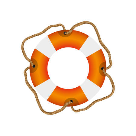 flotation: colorful flotation hoop with cord vector illustration Illustration