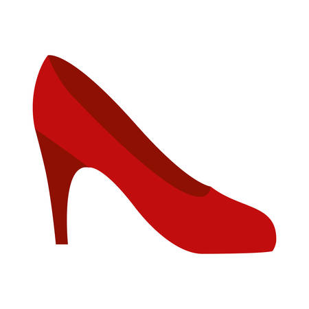 colorful silhouette of high heel red shoe vector illustration Illustration