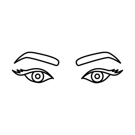 Silhouette dessin du regard de la femme avec des yeux expressive vector illustration Banque d'images - 76194860