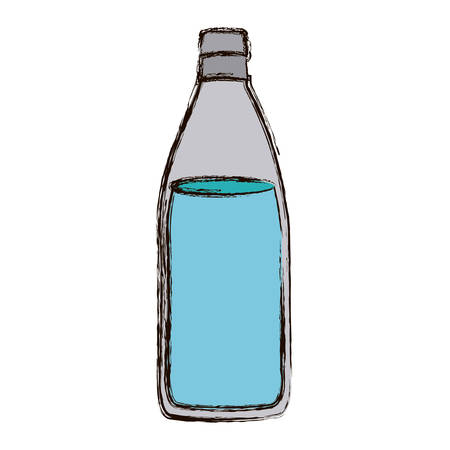translucent: color blurred silhouette with bottle of water vector illustration Illustration