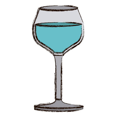 vermouth: color blurred silhouette of burgundy glass with water vector illustration