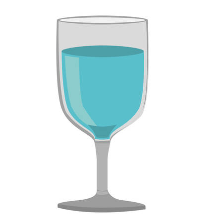 vermouth: colorful silhouette of glass of wine with water vector illustration