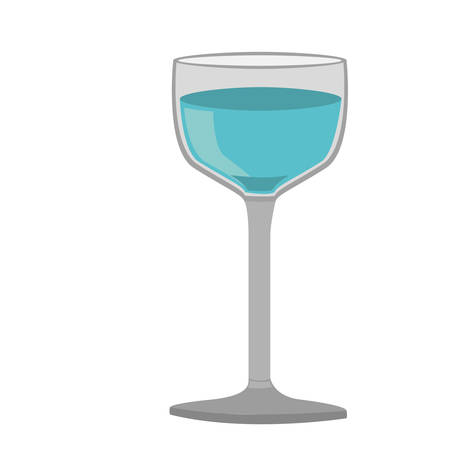 vermouth: colorful silhouette of glass cup with water vector illustration Illustration