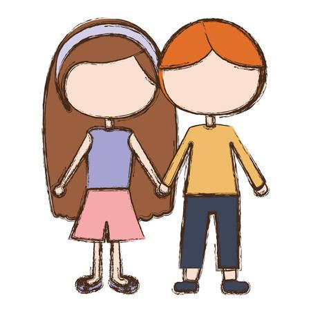 Boyfriend, Girlfriend vector illustration
