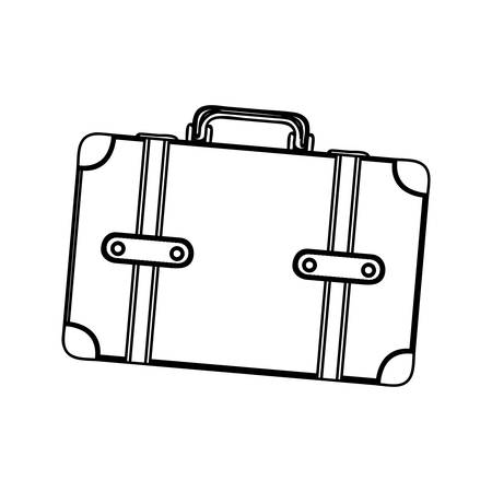 handgrip: monochrome silhouette of suitcase with handle vector illustration Illustration