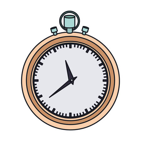 color graphic of stopwatch with thick contour vector illustration Illustration
