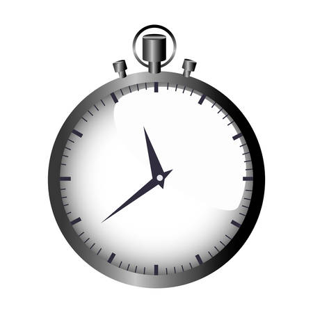 realistic graphic with gray simple stopwatch vector illustration