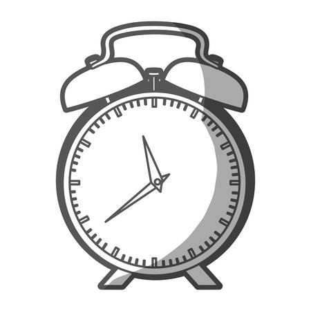Coloreado Crayón Silueta De Antigüedad Reloj Despertador Ilustración ...
