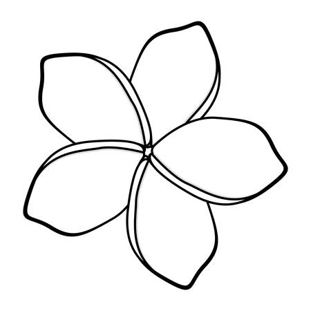 A monochrome silhouette with malva flower vector illustration