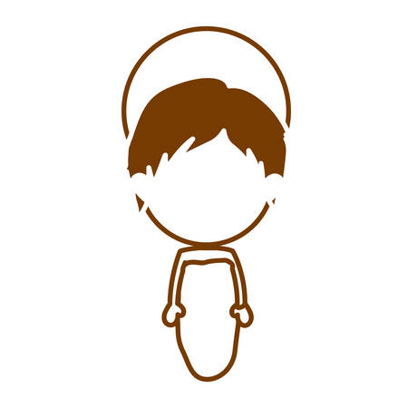 immanuel: brown silhouette of faceless image of baby jesus vector illustration
