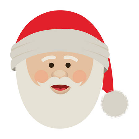 claus: silhouette of santa claus face with christmas hat vector illustration Illustration