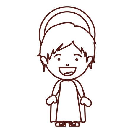 brown silhouette of child jesus vector illustration Illustration