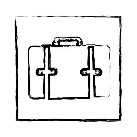 handgrip: monochrome blurred silhouette of frame with suitcase vector illustration Illustration