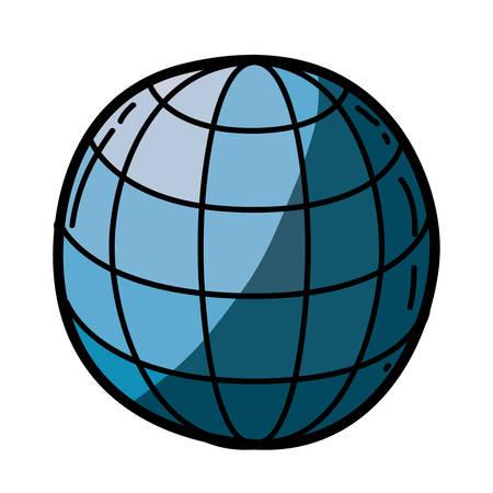 lumière colorée main silhouette de sphère de la main avec des plaies et maille avec l & # 39 ; ombre moitié illustration vectorielle