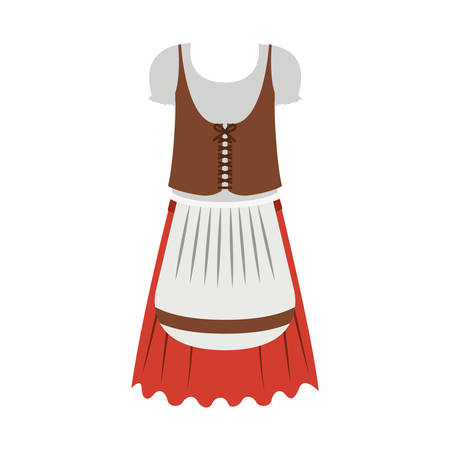 Female cloth icon. Oktoberfest germany culture festival and celebration theme. Isolated design. Vector illustration