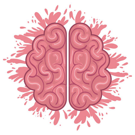 Brain icon. Human organ mind and science theme. Isolated design. Vector illustration Illustration