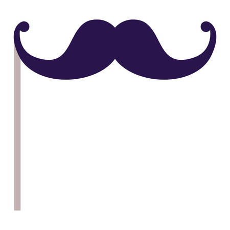 exciting: Mustache icon. Celebration fair carnival party and event theme. Isolated design. Vector illustration