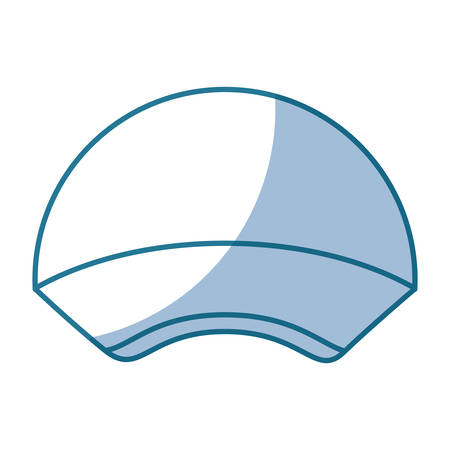 blue silhouette shading of sport cap headwear vector illustration vector illustration