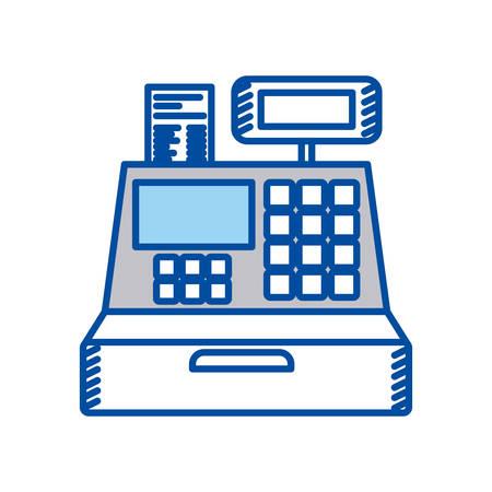 niebieski kontur kasy ilustracji wektorowych