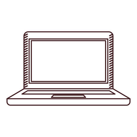 pc icon: monochrome silhouette of laptop computer vector illustration