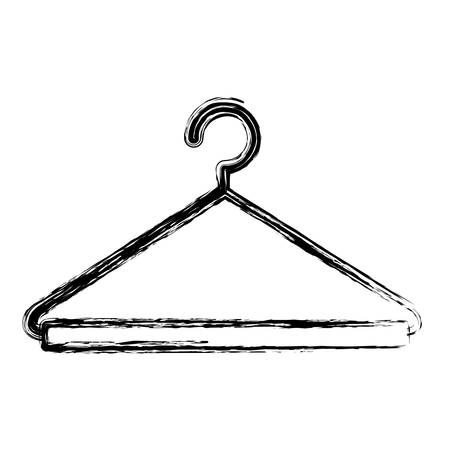 closet: monochrome blurred silhouette of hook closet shirt vector illustration