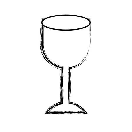 monochrome blurred silhouette of fragile packaging symbol glass vector illustration