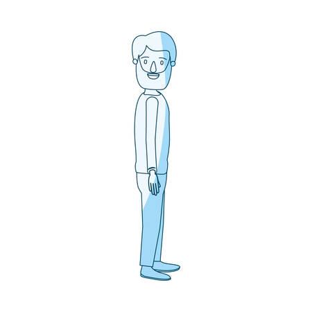 Mann ganzkörper seite